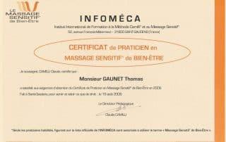 Bien Être avec Soi Thomas Gaunet 91 certificat MBE