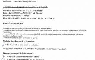 Bien Être avec Soi Thomas Gaunet 91 attestation massage sportif